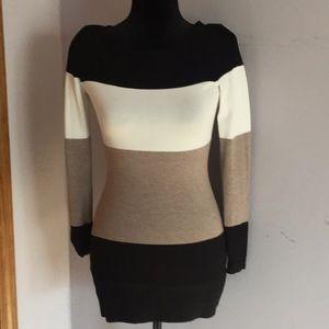 Colorblock Tunic Sweater